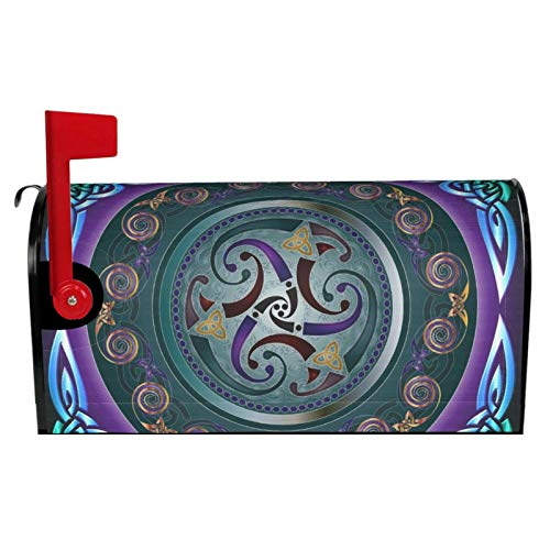 Jedenkuku Celtic Wicca Irish Wiccan Waterproof Oxford Magnetic Patio Garden Yard Lawn Outside Outdoor Decor Mailbox Decoration Home Signs