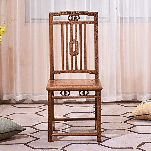 Quskto moderne stoel, bureaustoel eetstoel retro massief hout vrijetijdsstoel klassiek geschikt thuiskantoor harde textuur en duurzaam