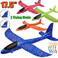 "4 Pack Airplane Toys, Upgrade 17.5"" Large Throwing Foam Plane, 2 Flight Mode Glider Plane, Flying Toy for Kids, Gifts for 3 4 5 6 7 Year Old Boy, Outdoor Sport Toys Birthday Party Favors Foam Airplane by BooTaa"