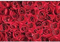 写真のための新しい2.1x1.5mFlower写真の背景ブルームフローラルロマンチックな鮮やかなローズ1の壁紙の背景