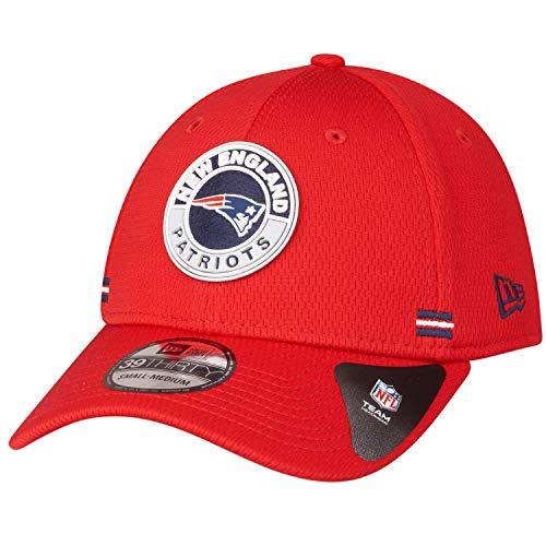 New Era NFL New England Patriots Onfield 2020 Sideline Road - Gorra elástica, color rojo rojo S-M