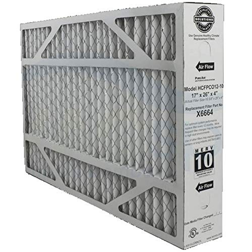 Lennox X6664 17 x 26 x 4 Inch MERV 10 Efficient Air Filter Replacement for PureAir PCO-12 Air Purifier Cleaner Purification Systems