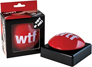 BigMouth Inc WTF Slammer Button, Gag Gift for Family, Friends and Co-Workers, Has 10 Different Sayings, Batteries Included