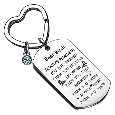 HONZZ Friend Gifts Inspirational Keychain Gift ...