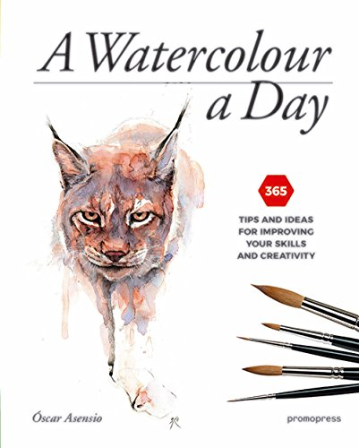 A Watercolour a Day: 365 Tips and Ideas for Improving Your Skills and Creativity (Albums beaux livres et carnets de voyages)