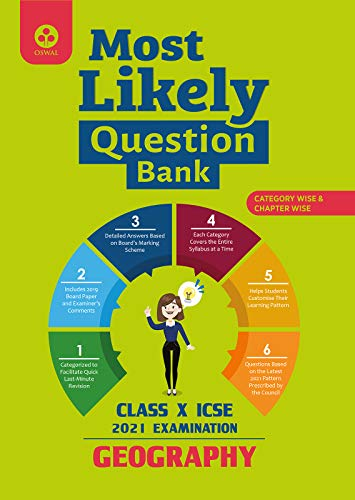 Most Likely Question Bank for Geography: ICSE Class 10 for 2021 Examination