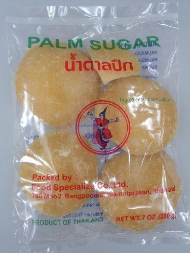 [ 200g ] THAI DANCER Palmzucker ( Scheiben ) / Palm Sugar