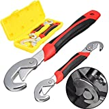thebestshop99 2PC Snap'N Grip 9-32mm Adjustable Wrench Spanner Universal Quick Multi-functIon