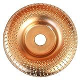 KunmniZ Disque de ponçage rond à facettes pour le bois, rotatif, doré