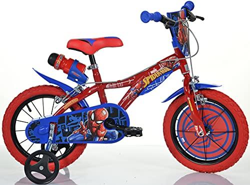 Dino Bikes - Bicicleta infantil de 16pulgadas Spiderman 163G-SA