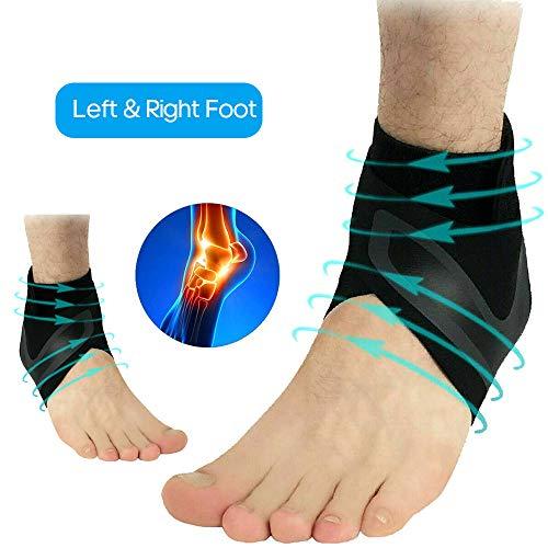 Festnight Verstellbare sportliche elastische Knöchelstütze Unterstützung Basketball Protector Fußwickel