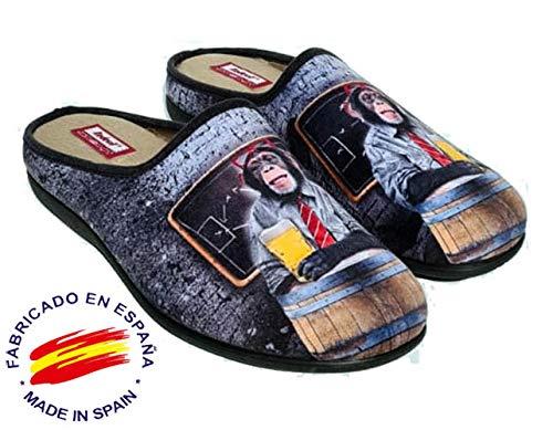 Zapatillas cómodas andar por casa graciosas originales divertidas - Mono cerveza (43 EU, numeric_43)