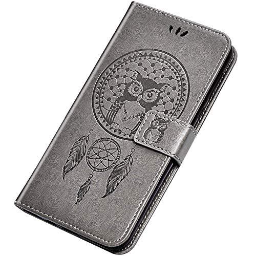 Rann.Bao Coque Compatible avec Sony Xperia XZ1 Compact Housse en Cuir PU Portefeuille à Rabat [Emplacements pour Cartes et Monnaie] [Magnétique] Protection Etui Flip Case