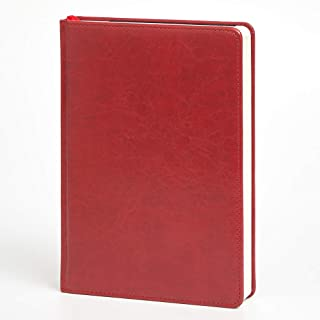 Leather Notebook Journal Blank Writing Paper 320 Pages+ Marble Hardcover A5 6.1x 8.8 Inches, Gift Idea for Women and Men(Red)