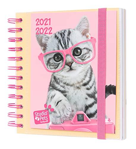 Agenda Escolar 2021 2022 Studio Pets Cat - Agenda Escolar 2021-2022 / Agenda 2022 dia por página - Agenda 11 meses desde Agosto de 2021 a Junio de 2022 │Producto con licencia ofifical - Agenda Erik