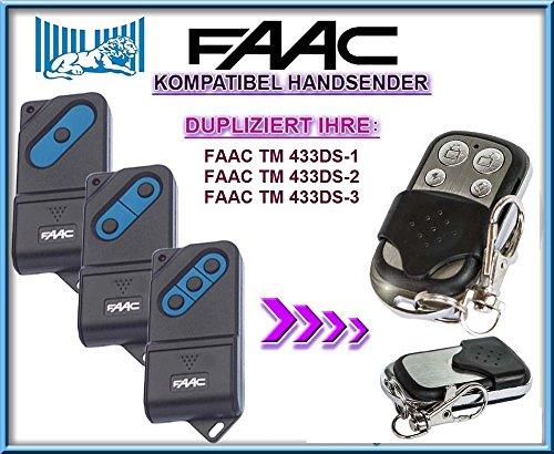 FAAC TM 433DS-1 / FAAC TM 433DS-2 / FAAC TM 433DS-3 kompatibel handsender, klone fernbedienung, 4-kanal 433,92Mhz fixed code. Top Qualität Kopiergerät!!!
