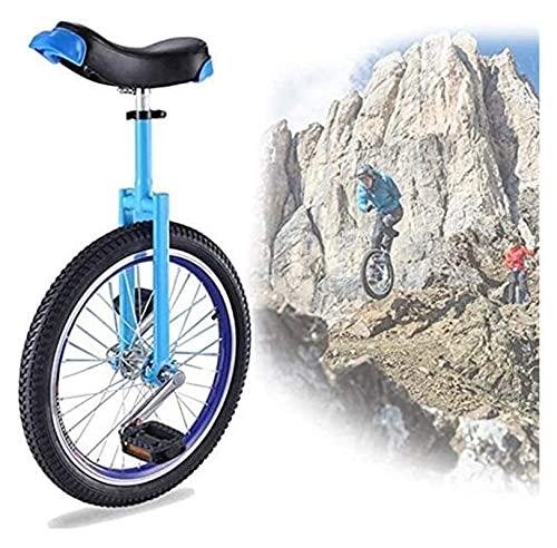 Unicycles 18/18/20'Entrenador de Ruedas Adultos, niños a Prueba de Llantas Balance de Ciclo de neumático para Principiantes para niños Adulto Ejercicio Divertido Fitness, Azul