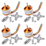 HONG YI-HAT HongYi 4pcs / Lot A2212 1000kV Motores sin escobillas + Soportes for los Aviones de RC Cuatro Ejes de Multicopter Quadcopter Piezas Accesorios avión no tripulado (Color : 1000kv)