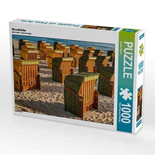 CALVENDO Puzzle Strandkörbe 1000 Teile Lege-Größe 64 x 48 cm Foto-Puzzle Bild von Gunter Kirsch