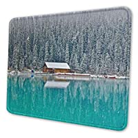雪の森 マウスパッド 18 X 22cm 滑り止め 防水 おしゃれ 洗える ビジネス用 家庭用 ゲーム用