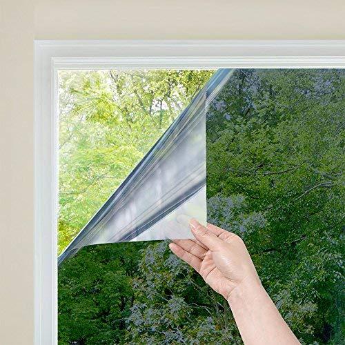 RH Art Pellicola Specchio Oscurante per Vetri Finestre Autoadesiva per Privacy, Anti-UV e Controllo del calore, adatto a Casa e Ufficio 90 x 200 cm