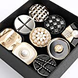 HUIJUNWENTI 5pcs 25/2730/34 mm Accessori Cappotto Bottoni di Perle di Metallo Indumento Cucire Bottoni for Abbigliamento Artigianato Strass COBACHON (Colore : 11, Taglia : 3#)