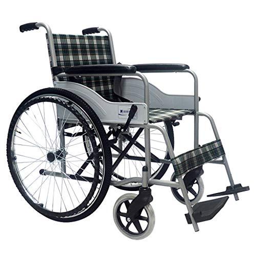 sedia a rotelle ROMX Trasporto Medico, sedie a rotelle Leggere per Adulti Sedie Pieghevoli per Trasporto per Anziani, Grandi Ruote in Gomma da 22 Pollici per Un Giro più Regolare, Sedile da 18 p