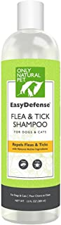 Only Natural Pet EasyDefense Flea & Tick Shampoo with Geraniol Peppermint Oil for Dogs and Cats