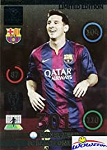 2014/2015 Panini Adrenalyn Champions League EXCLUSIVE Lionel Messi JUMBO XXL Limited Edition MINT! Rare Card Imported from Europe ! Shipped in Ultra Pro Top Loader to Protect It!