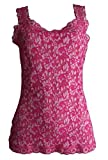 Hanky Panky Cross-Dyed Cami, Vivid Coral/Marshmallow Women's Shirt Top 594624 (M) Pink