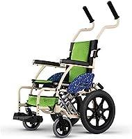 GUONING-L 超軽量アルミ合金車椅子、キャリーバッグ付き折りたたみ交通議長は、簡単に旅行のための唯一の7.5キロ重量を量る - レッド(色:グレー、サイズ:ビッグホイール) 多機能型