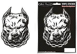 HOT STUFF MERCHANDISE Angry Pitbull Dog Car Sticker
