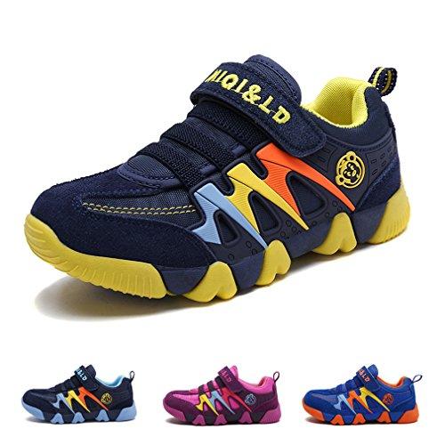 Ragazzo Ragazza Scarpe da Ginnastica Running Sportive Basse Bambini Respirabile Scarpe Tennis Sneakers all'aperto Unisex-bambin Giallo 31 EU = Produttore :32