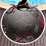 Baño Textiles de baño Toallas Toallas de playa Round Beach Towel,Elegant, Quick-Drying, Picnic matNow Round Beach Towel Leopard Print Hippie Happy Youth Towel Sand-Proof Blanket Yoga mat and Tassel