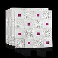 自己接着3Dフォームウォールステッカー壁紙防音デコレーションハウス天井壁紙(10個) A++ (カラー : F)