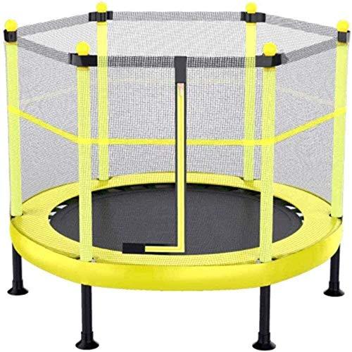 TAIDENG Trampolín infantil para juguetes al aire libre e interior con red de seguridad y 360° con mango acolchado trampolines para niños de 50 a 300 kg (tamaño: 60 pulgadas)
