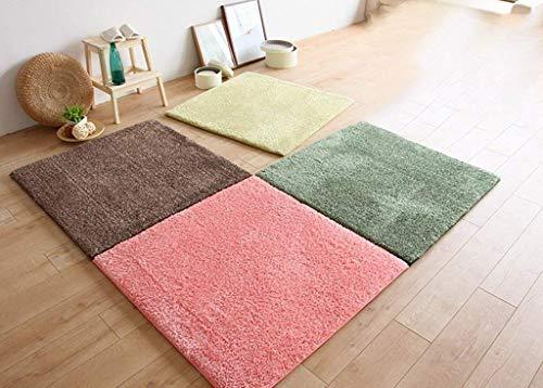 CTO Wtl Carpet Shaggy Carpet Hochfloriger Langflor Teppichboden Preishammer in One. Passen Sie Ihre Farbe an,80 * 80 cm,Frucht-Rosa