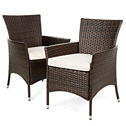 Wicker Chairs With 350 Lbs Capacity