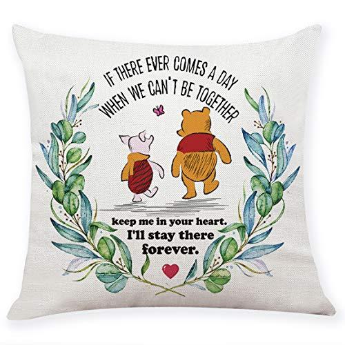 chillake Kissenbezug mit klassischem Winnie Puuh-Zitat als Geschenk, für Sofa, Couch, Dekoration, lustiges Freundschaftszitat (45,7 x 45,7 cm)