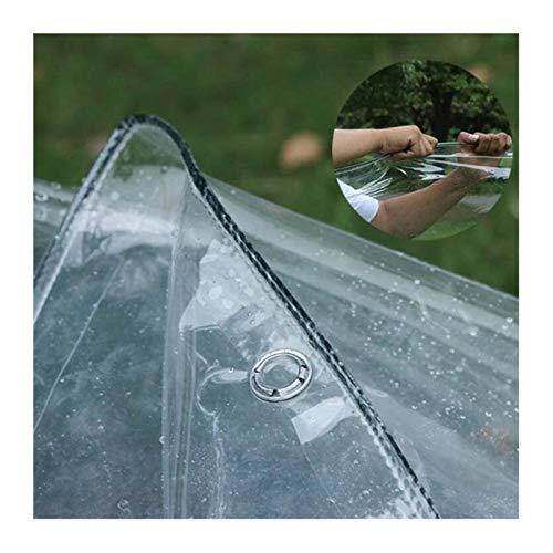 Toldo Clear Tarpaulin Lona transparente Persiana, Rain Curtain Lona transparente, plástico de tela lluvia Ventana Balcón prueba de lluvia y resistente al agua cortina cubierta de la lluvia, Usado Balc