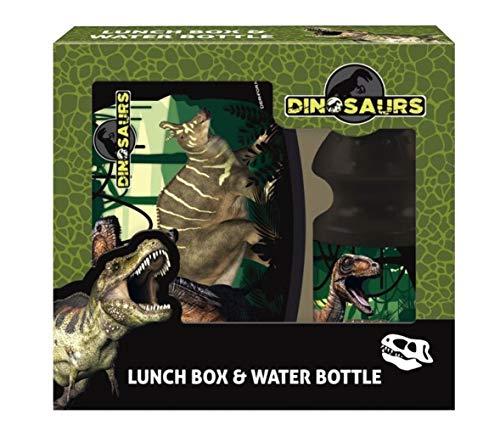 Theonoi Juego de fiambrera, fiambrera y botella, ideal como regalo (dinosaurios)
