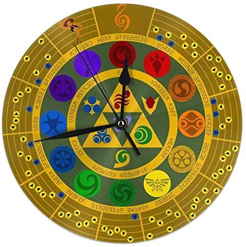 gardenia store Wheel of The Hero of Time Rotonda Orologio da Parete Home Decor 9.84inch