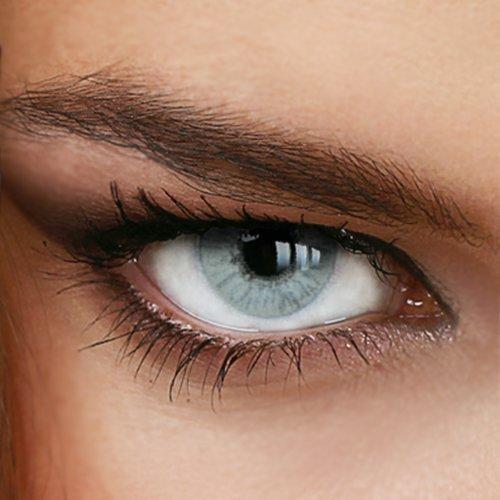 Farbige Jahres-Kontaktlinsen Naturally SWEET GRAY-GREEN - in GRAU-GRÜN - von LUXDELUX® - (+2.50 DPT in Plus)