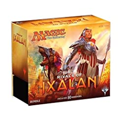 Rivals of Ixalan brings new and exciting double-faced cards! Accomplish the goal on the front and you will have unlocked the power of Legendary Lands Each bundle contains 10 booster packs, an 80 card basic land pack and much more! English Subtitles