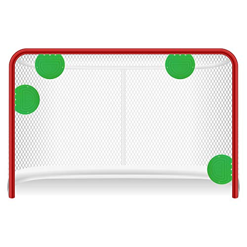 Top Shelf Targets Super Sniper 6-inch Magnetic Shooting Targets (4 Pack Set) for Hockey and Lacrosse Excellent Practice Tool & Training Equipment