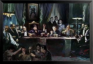 Buyartforless Framed Gangster Last Supper by Ylli Haruni 36x24 Art Print Poster Godfather Scarface Sopranos Goodfellas