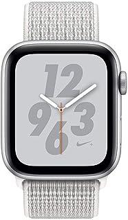 Apple MTXJ2AE/A Series 4 Nike+ 44mm Smartwatch, Silver - Aluminum Case with Summit white Nike Sport Sport Loop, GPS+CEL