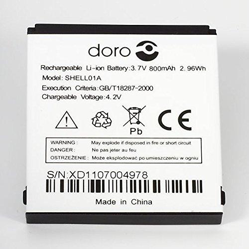 Akku für Doro PhoneEasy 410 / 410GSM (800mAh, ersetzt SHELL01A)