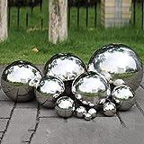 Bola de observación de acero inoxidable, esfera de jardín reflectante de bola hueca pulida con espejo, bolas de estanque flotante Globo de observación sin costuras para decoraciones de adornos de jar
