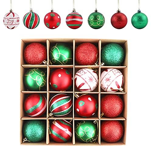 Gukasxi - Decorazioni per albero di Natale, 16 pezzi, infrangibili, per albero di Natale, decorazioni per albero di Natale, decorazioni per albero di Natale